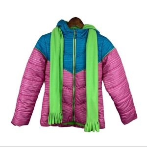 Pacific Trails Girls Coat with attached Scarf
